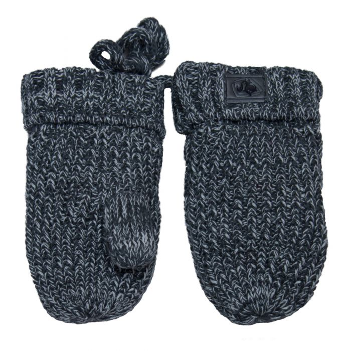 Knitted Mitts Charcoal Mix