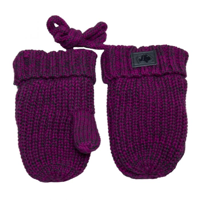 Knitted Mitts Rose Violet Mix