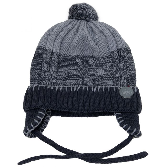 Knit Pom Hats Grey Combo