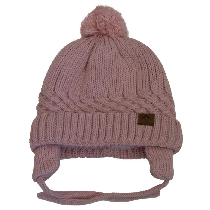 Unisex Cotton Knit Winter Hat - Ballet Pink