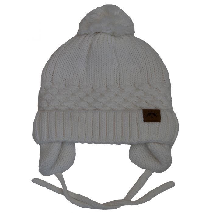 Unisex Cotton Knit Winter Hat - Snow White