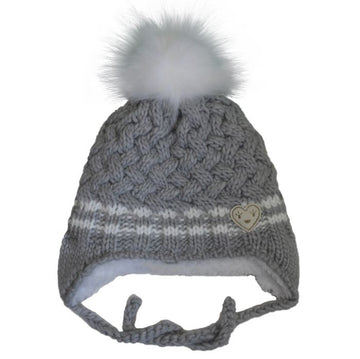 Knit Heart Winter Hat (Multiple Colors)