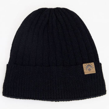 Knit Cashmere Touch Winter Hat - Black