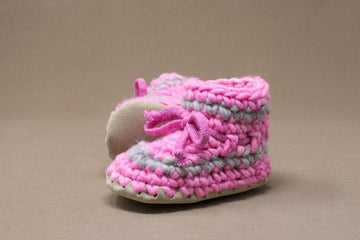 Pink Stripe Slippers