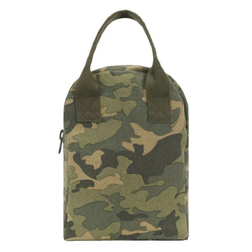 Camo Zipper Lunch Bag