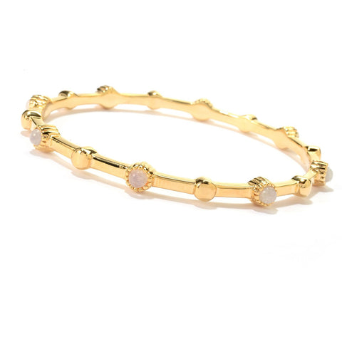 Gemstone Station Bangle Bracelet