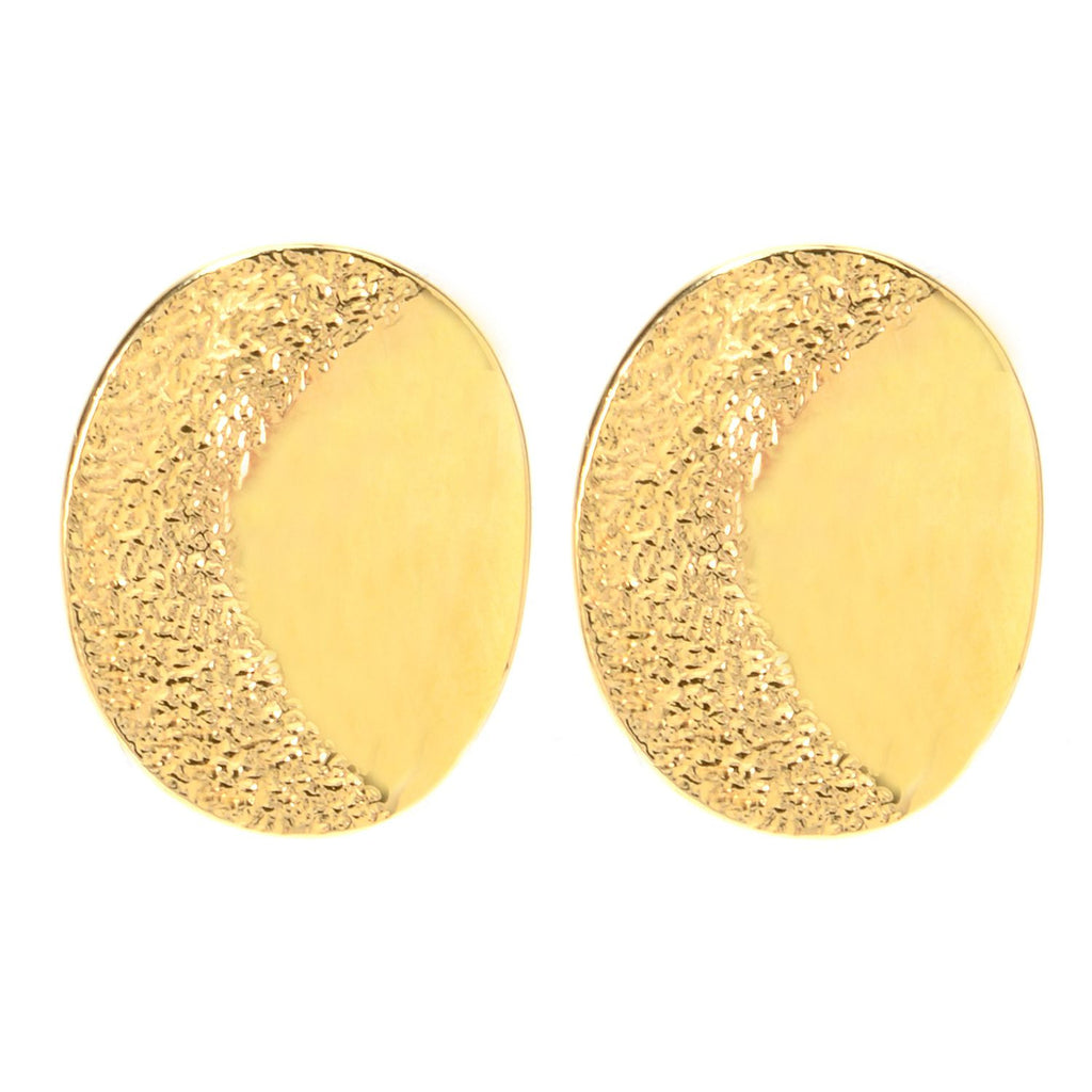Textured and high polished earrings