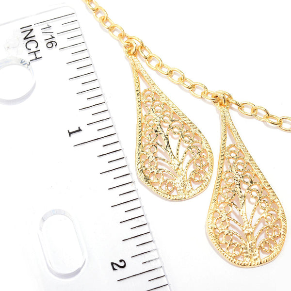 Filigree Teardrop Necklace