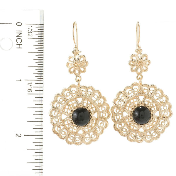 Gem & Flower Drop Earrings