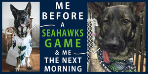 Rogue Lien, Director of Cause Marketing at Big Moon Beeswax, and Huge Seahawks Fan