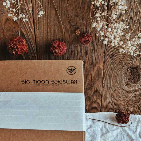 Look for the bee on the box | Big Moon Beeswax