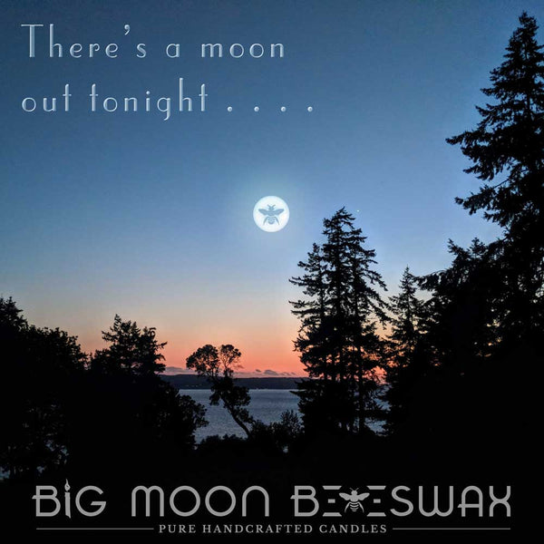 Big Moon Beeswax Candle Studio