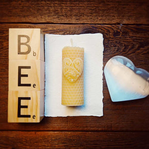 Mini Heart Pillars - Big Moon Beeswax