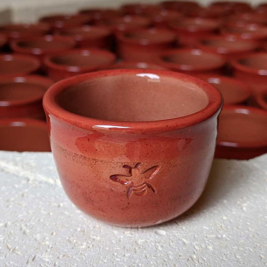 Harvest Moon Drop Set - Autumn Red Ceramic Cups - Limited Run