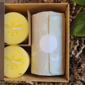 Beeswax Votive Gift Set: Bee Hopeful