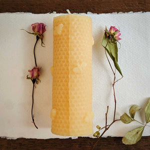 Honeycomb Bee Pillar - Big Moon Beeswax