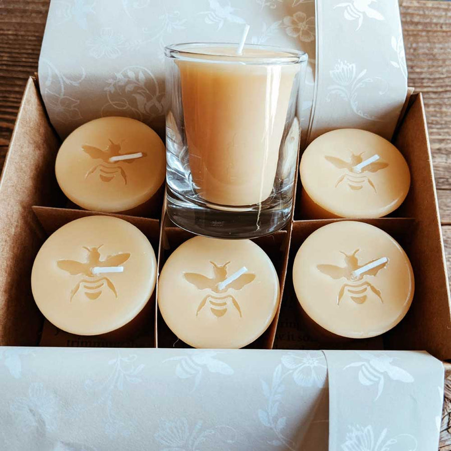 Beeswax Votives - Big Moon Beeswax
