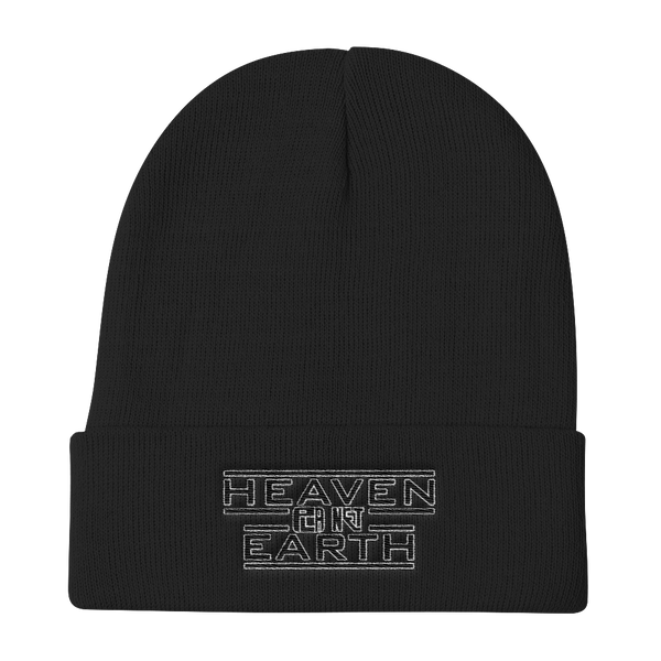 Heaven On Planet Earth Logo Knit Beanie