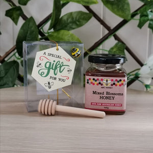 ABC Mixed Blossoms Honey - 140g with dipper Giftbox
