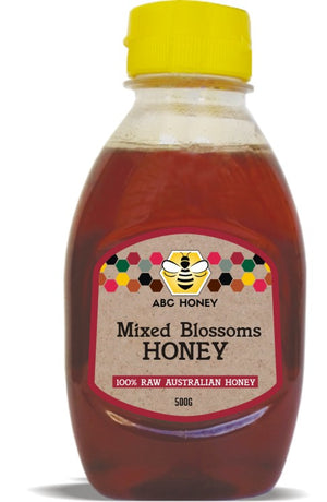 ABC Mixed Blossoms Honey Refillable Squeezy Bottle - 500g