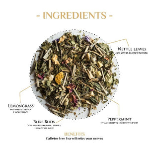 Amusing Peppermint Herbal Tea with Lemongrass & Rose - Herbal Tea-The Kettlery