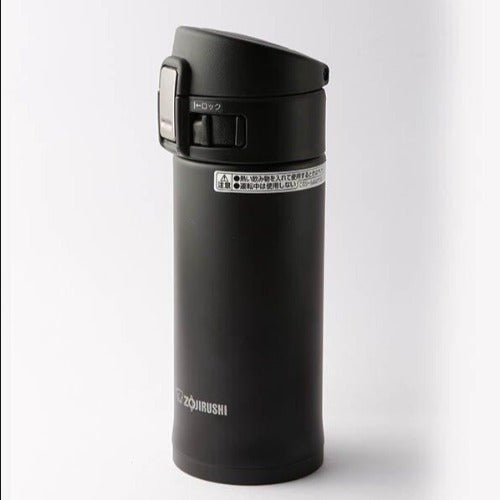 Black Pop Top Tea Tumbler - Insulated-The Kettlery