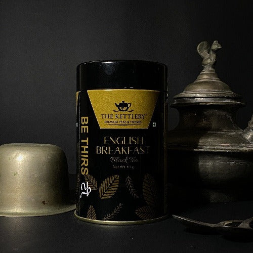 English Breakfast Premium CTC Black Tea Tin - 65 gms Black Tea The Kettlery 65g