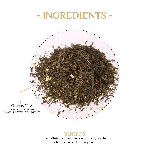 Green Earl Grey Tea Green Tea The Kettlery 250g One Time in