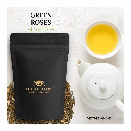 Green Roses Tea Green Tea The Kettlery 100g in