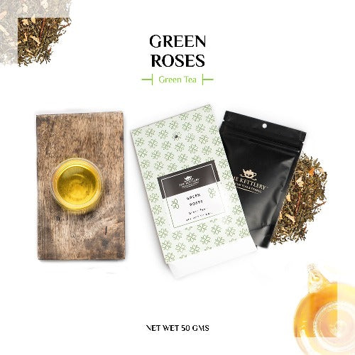 Green Roses Tea Green Tea The Kettlery 50g in