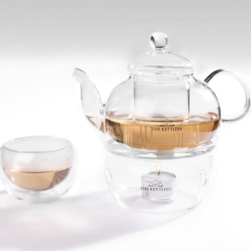 Illusion Glass Tea Kettle & Cups Set Tea Kettle & Cup Sets The Kettlery