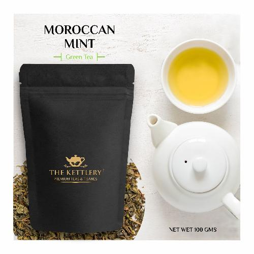 Moroccan Mint Spearmint Green Tea Green Tea The Kettlery 100g One Time in
