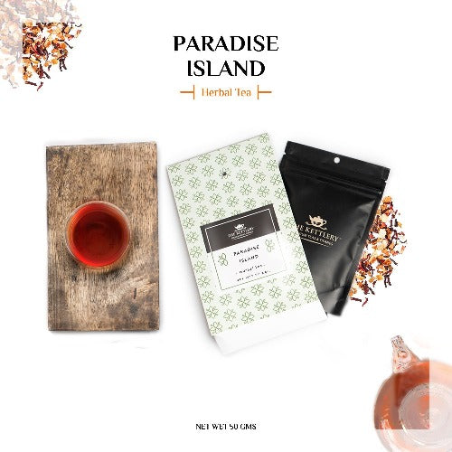 Paradise Island Fruit Tea Herbal Tea The Kettlery 50g in