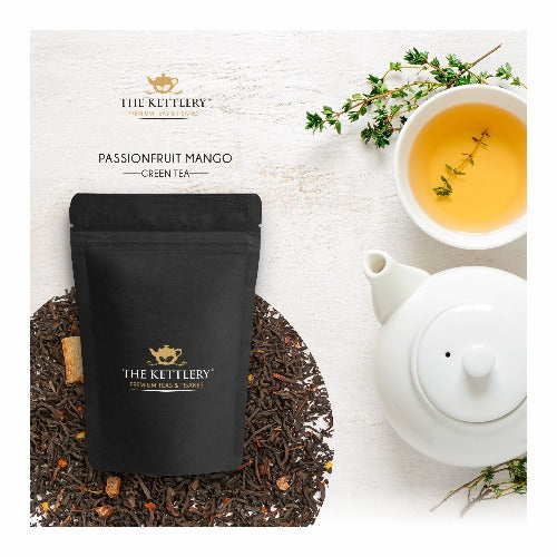 Passionfruit Mango Green Tea Green Tea The Kettlery 50g in