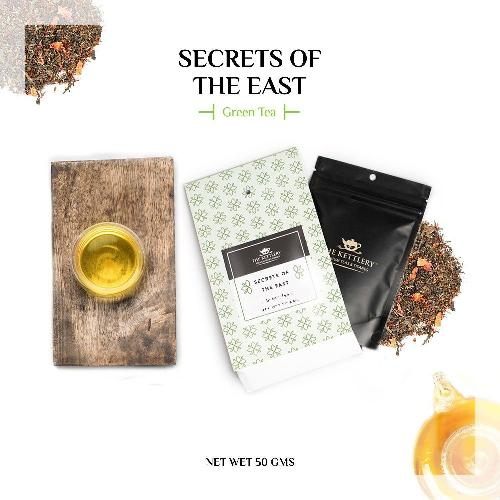 Secrets of the East Saffron & Rose Green Tea Green Tea The Kettlery 50g in