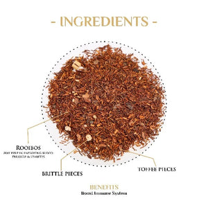 Toffee Brittle Nut Rooibos Tea Rooibos Tea The Kettlery 250g in