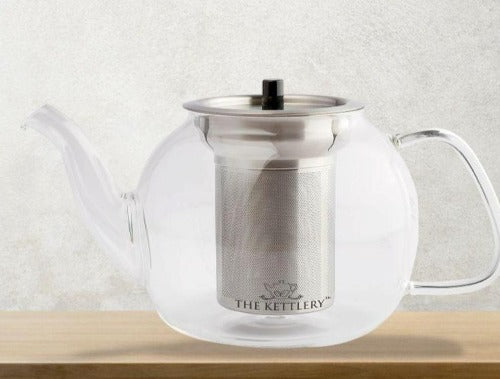 Victoria Glass Tea Kettle & Cup Set Tea Kettle & Cup Sets The Kettlery