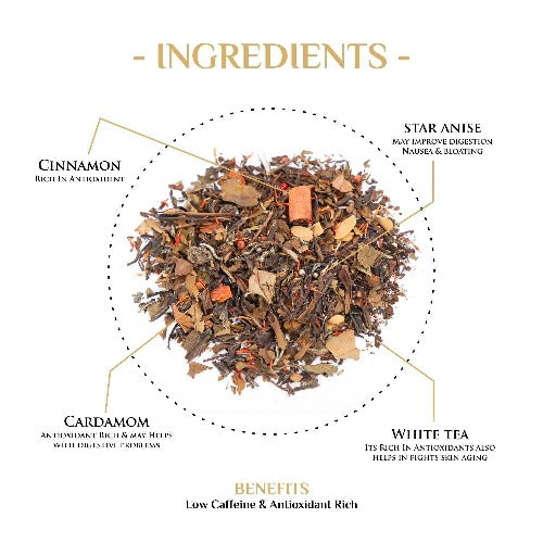 White Queen Spiced Saffron & Cinnamon White Tea White Tea The Kettlery
