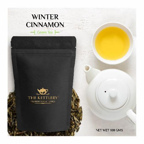 Winter Cinnamon Green Tea Green Tea The Kettlery 100g One Time in