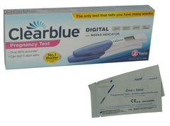 Test de grossesse Clearblue DIGITAL (2 tests) + 2 x Tests de grossesse bandelette 10 mIU/ml