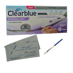 Clearblue Test Ovulation 10 tests+ 2 Tests Grossesse 10ui GRATUITS! PROMO