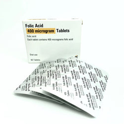 Acide Folique 400 mcg.