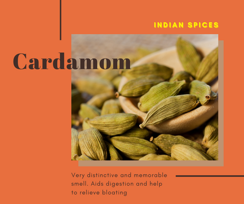 Indian Spices Health Benefits Cardamom aid digestion and help to relieve bloating
