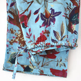 Ladies Turquoise Bird Pyjamas - Rowan Charles