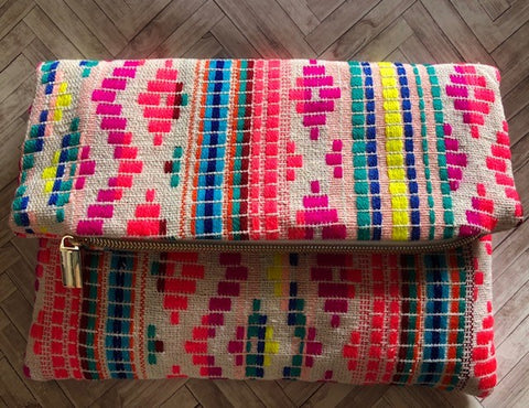 Tequila Sunset Foldover Clutch