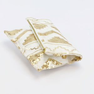 Aztec Gold Foldover Clutch