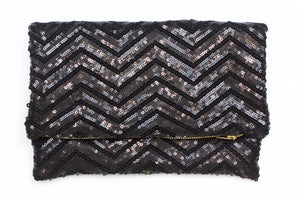 Black Beauty Foldover Clutch