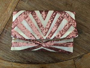 Pink Dust Foldover Clutch