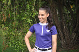 Girls Technical Riding Shirt - Purple