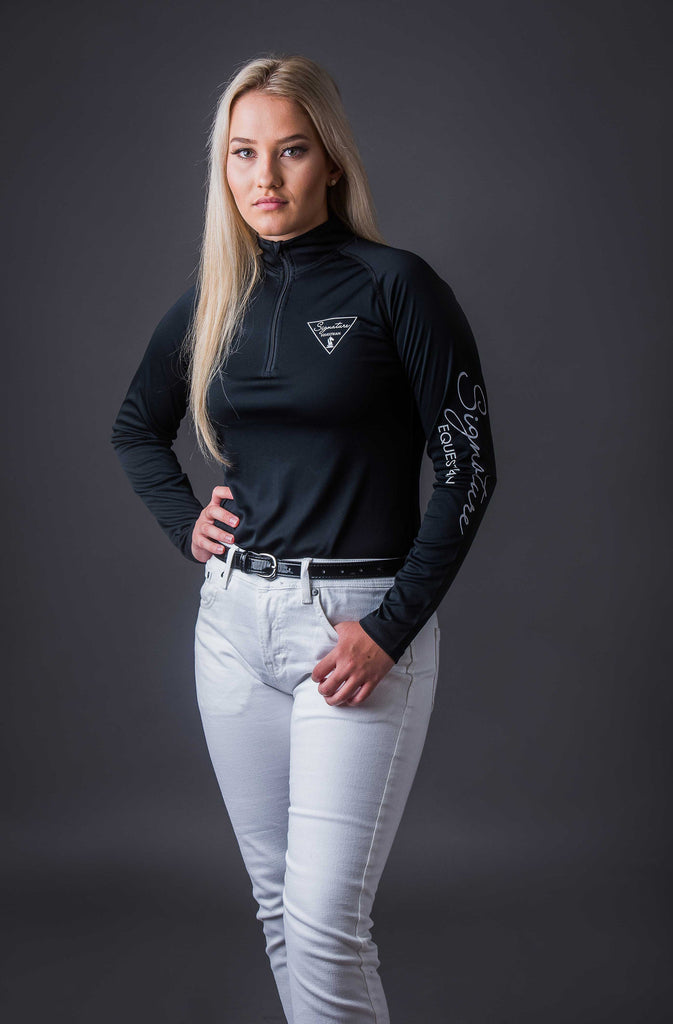 Long Sleeve Outdoor Shirt - Black | Signature Equestrian QLD